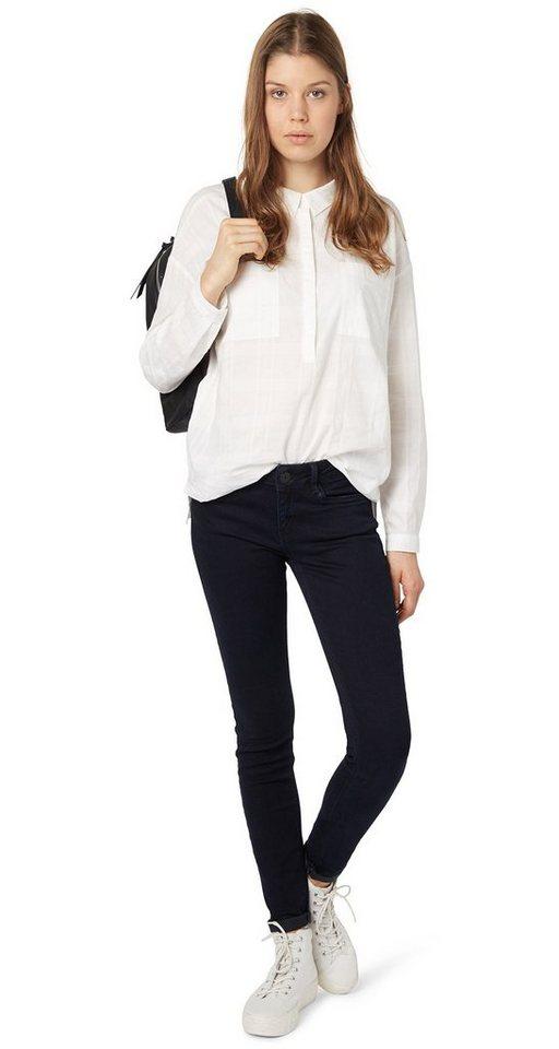 TOM TAILOR DENIM Jeans »schwarzblaue Jeans« in blackblue denim