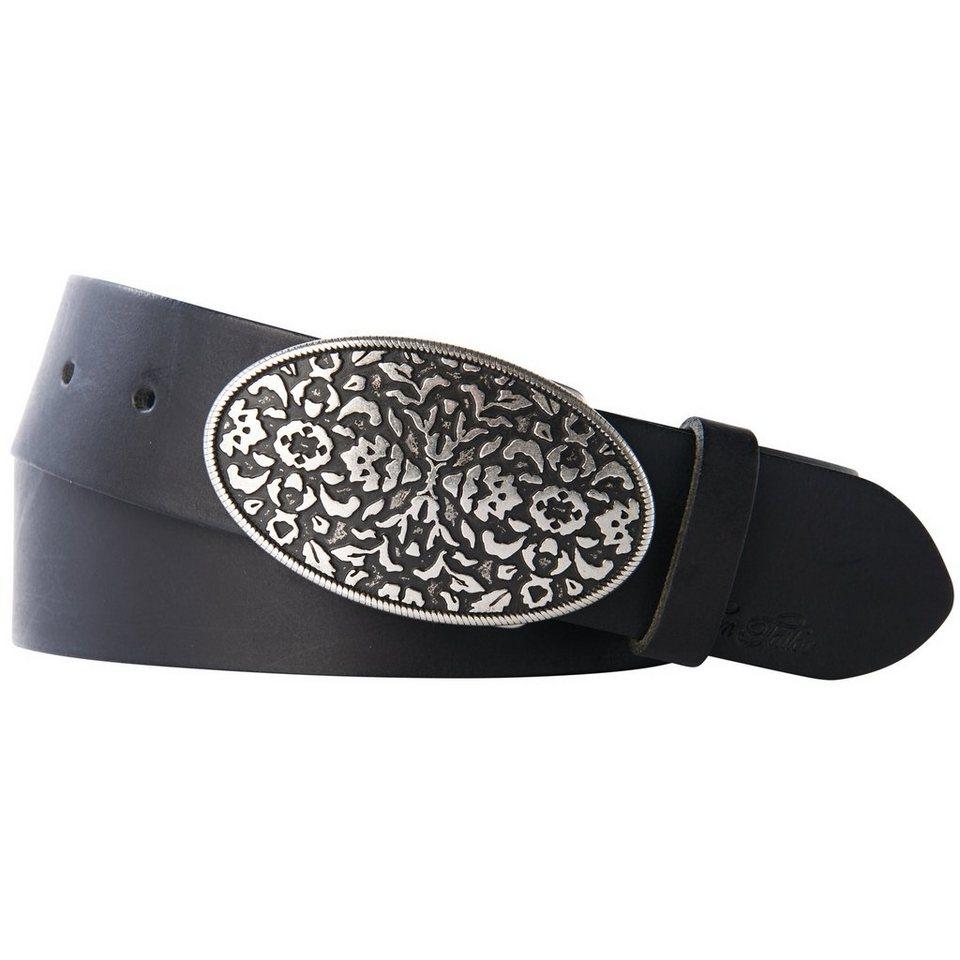 TOM TAILOR Gürtel »Gürtel mit dekorativer Schnall« in black