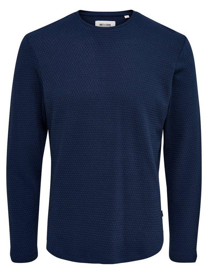 ONLY & SONS Strukturiertes Sweatshirt in Dress Blues 1