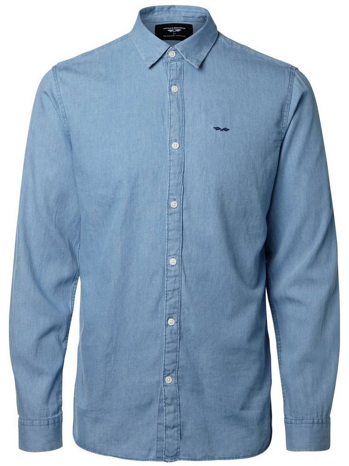 Selected Antonio Banderas - Hemd in Light Blue Denim