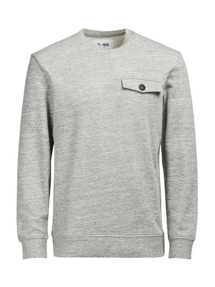 Jack & Jones C-90 Sweatshirt in Light Grey Melange