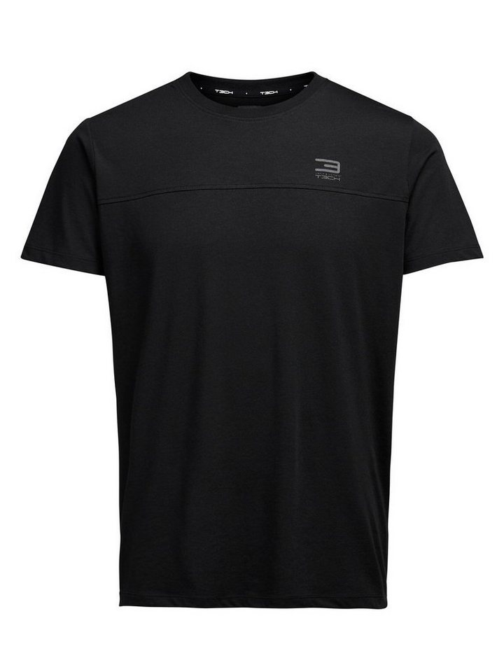 Jack & Jones Schnelltrocknendes T-Shirt in Black