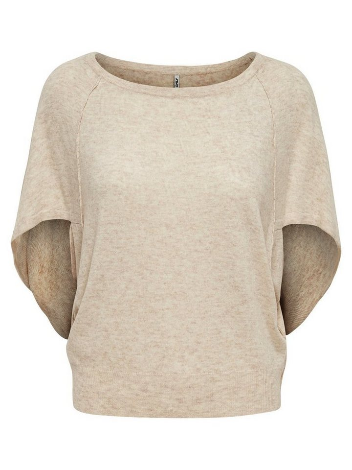 Only Oversize- Strickpullover in Whitecap Gray