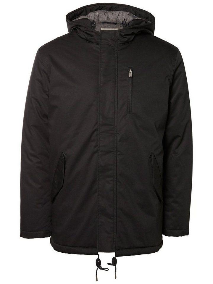 Selected Gefütterte Jacke in Black