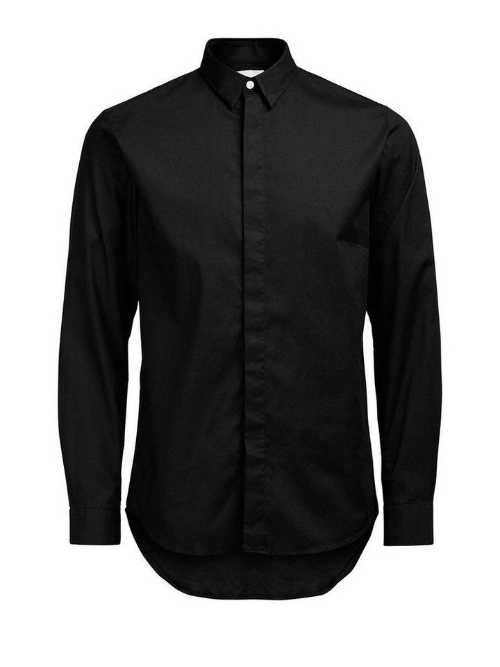 Jack & Jones Lang geschnittenes Freizeithemd in Black