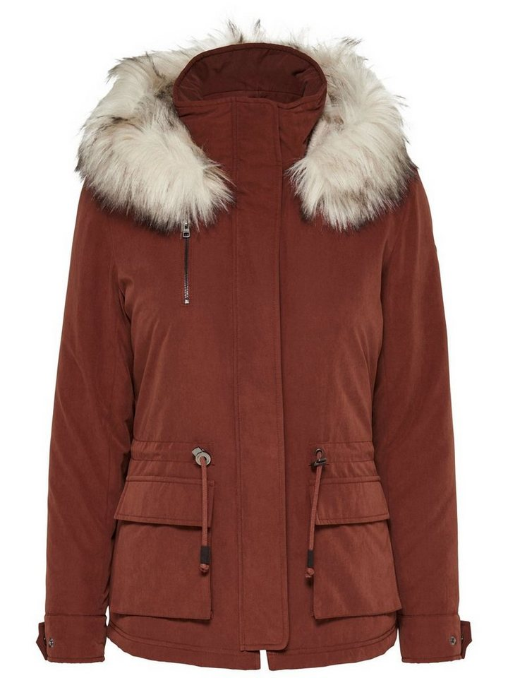 Only Detaillierter Parka in Cherry Mahogany