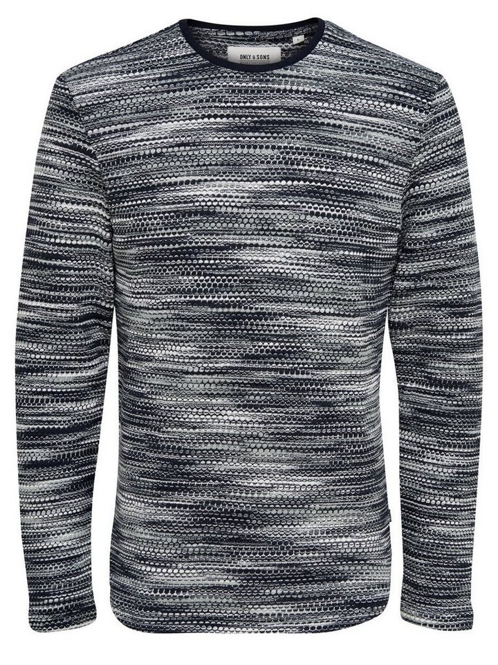 ONLY & SONS Strukturiertes Sweatshirt in Dress Blues 2