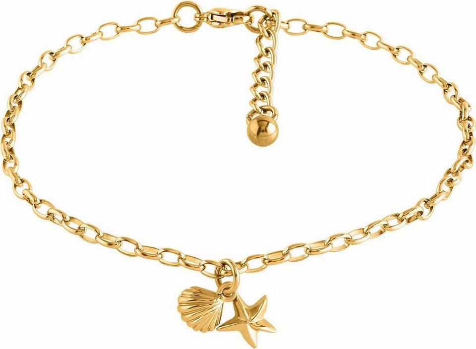 Firetti Fußkette »Seestern und Muschel« in goldfarben