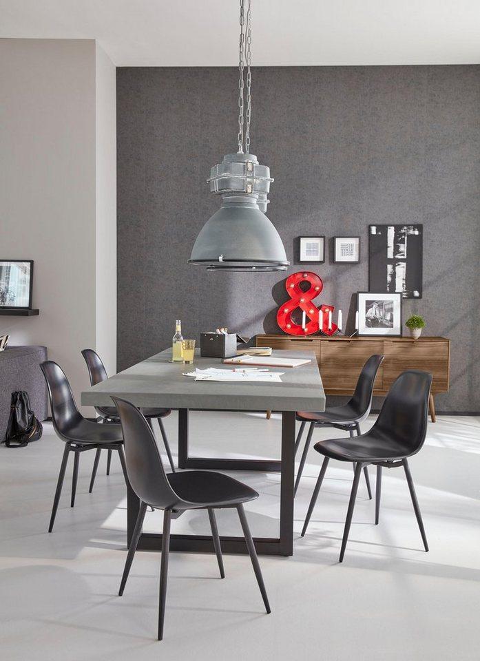 SIT Esstisch »Tops«, mit Zement-Tischplatte in Eisen antikschwarz