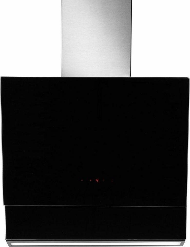 Amica Kopffreihaube KH 17214-2 E, Energieklasse A+, Glasschirm, 60 cm, schwarz in schwarz