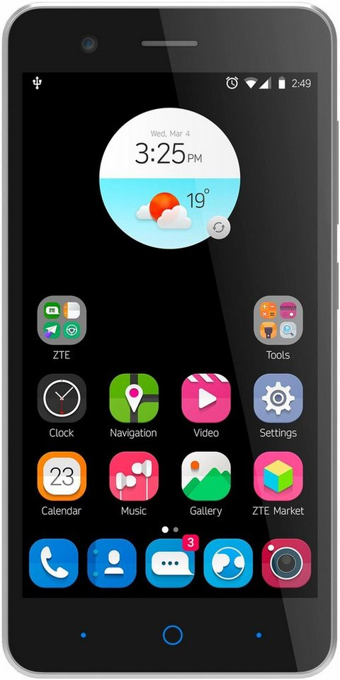 ZTE Blade A510 Smartphone, 12,7 cm (5 Zoll) Display, LTE (4G), Android 6.0 (Marshmallow) in weiß