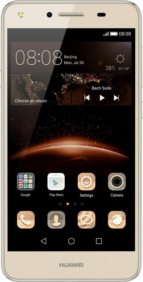 Huawei Y5 II Smartphone, 12,7 cm (5 Zoll) Display, LTE (4G), Android™ 5.1 mit EMUI 3.1 in goldfarben