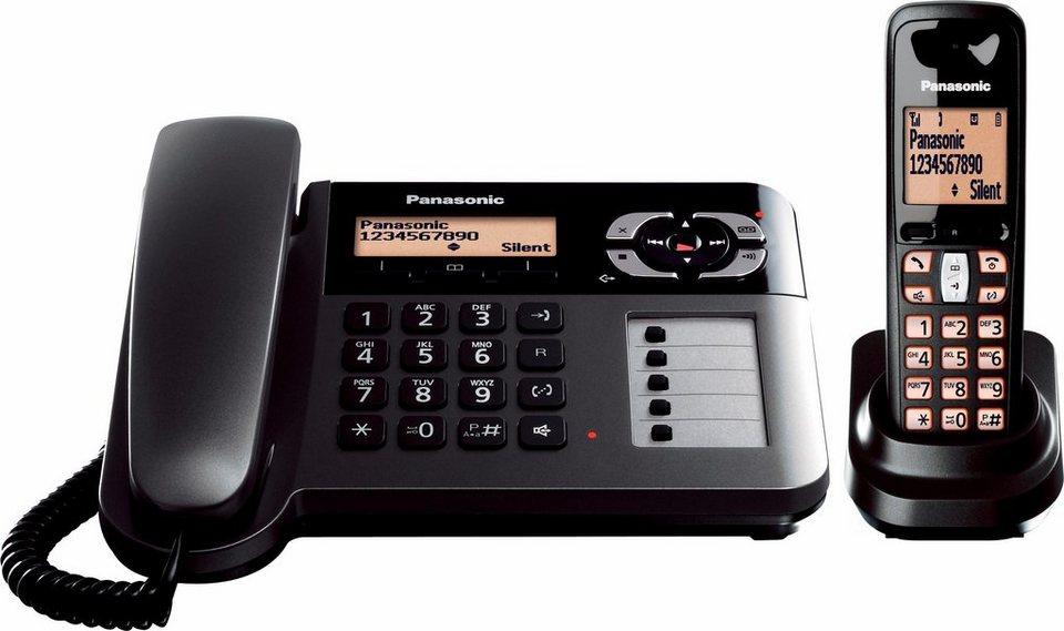 Panasonic KX-TGF120 DECT Kombi Telefon-Set mit AB in schwarz