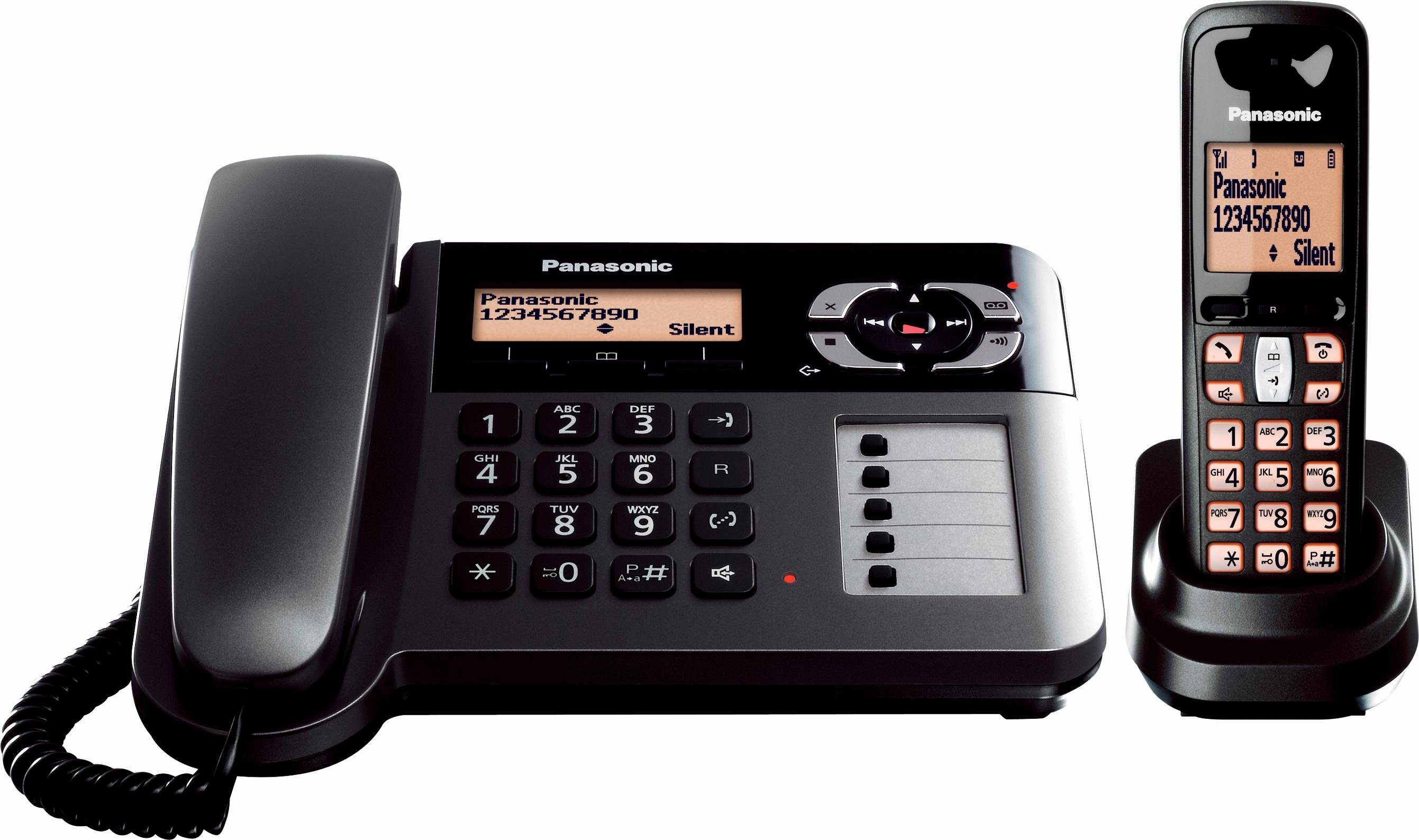 Panasonic KX-TGF120 DECT Kombi Telefon-Set mit AB