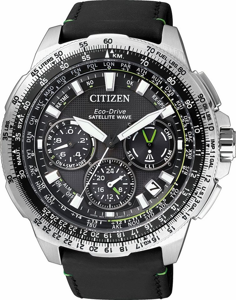 Citizen Chronograph »CC9030-00E« Mit Satelitte Timekeeping System in schwarz