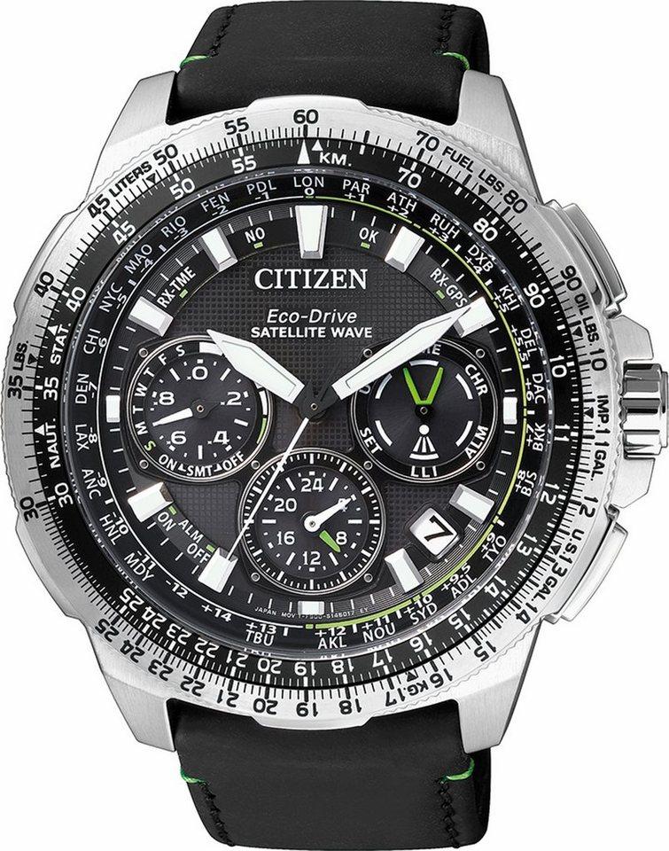 Citizen Funkchronograph »CC9030-00E« Mit Satelitte Timekeeping System in schwarz