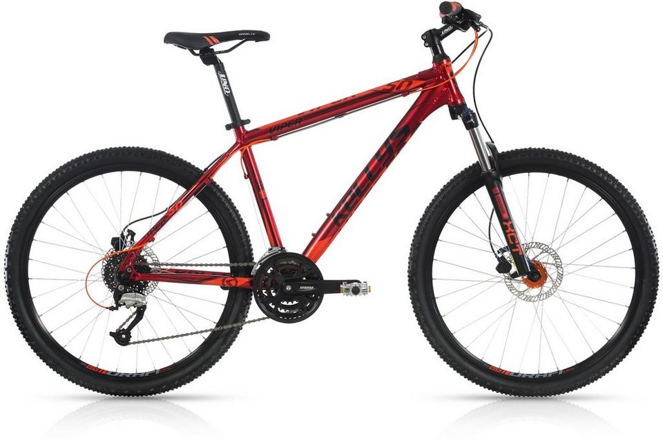Kellys Hardtail Mountainbike, 24 Gang Shimano Altus Kettenschaltung, »Viper 50« in rot