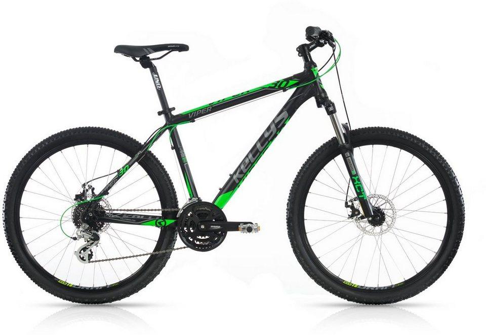 Kellys Hardtail Mountainbike, 24 Gang Shimano Altus Kettenschaltung , »Viper 30« in schwarz-grün
