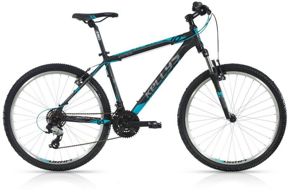 Kellys Hardtail Mountainbike, 26 Zoll, 21 Gang Shimano TX 800 Kettenschaltung, »Viper 10« in schwarz-blau
