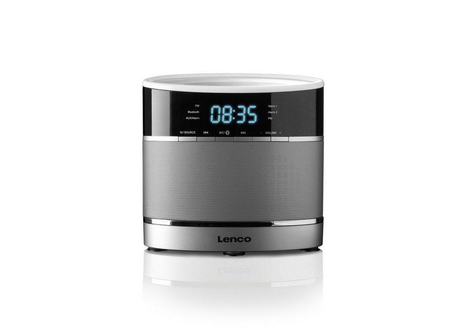 Lenco Uhren-Radio mit Bluetooth »CR-3306 BT« in silber