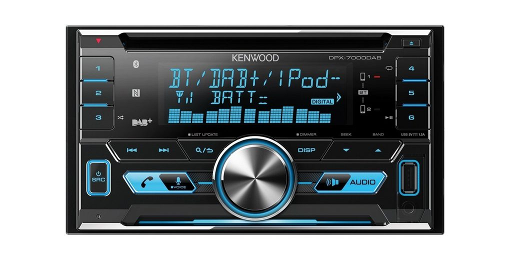 Kenwood 2-DIN Digitalautoradio Bluetooth »DPX-7000DAB«