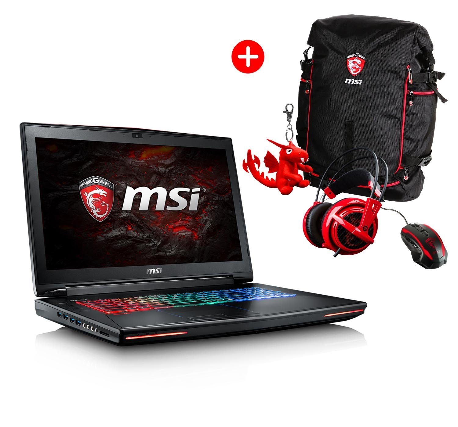 "MSI 17,3"", i7-6700HQ, 16GB RAM, SSD + HDD, GeForce® GTX 1070 »GT72VR-6REAC16H51 (001785-SKU36)«"