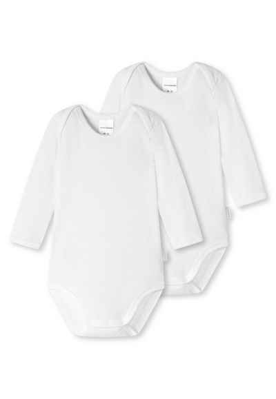 Schiesser Strampler »Baby Body 2er Pack - Unisex, Langarm, Baumwolle«