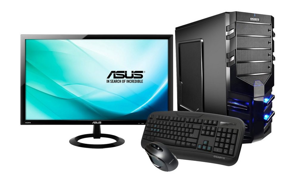 Hyrican Gaming PC Set AMD FX-8350, 16GB, Windows 10 + Monitor »Alpha Gaming SET01075«