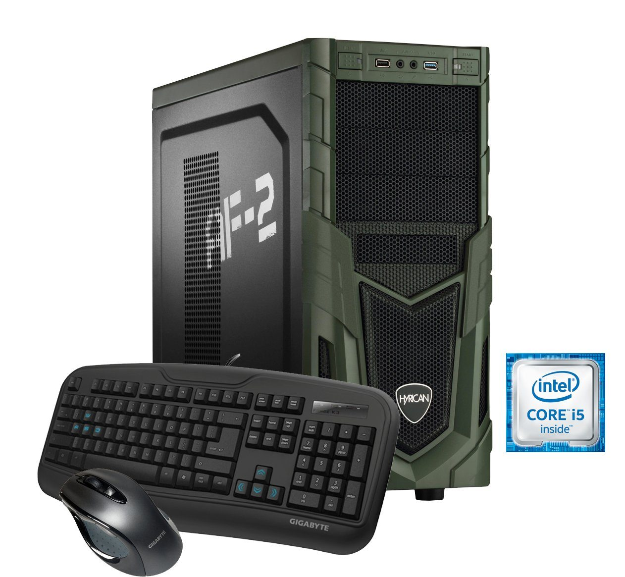 Hyrican Gaming PC Intel® i5-6600, 16GB, HDD + SSD, Radeon™ RX 470 »Military Gaming 5273«