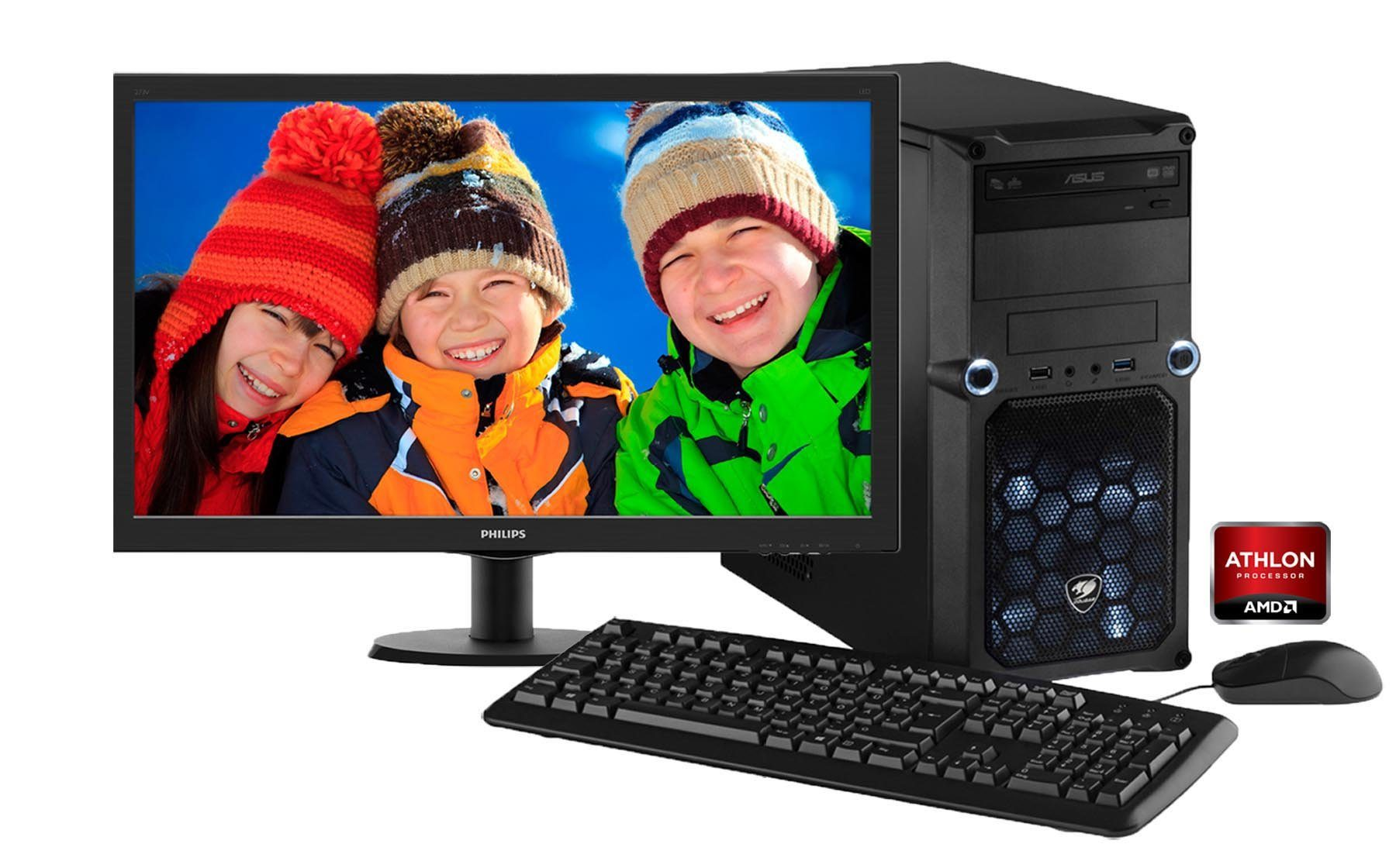 Hyrican Gaming PC Set AMD Athlon X4 880K, Windows 10 + Monitor »Cyber Gamer SET01068«