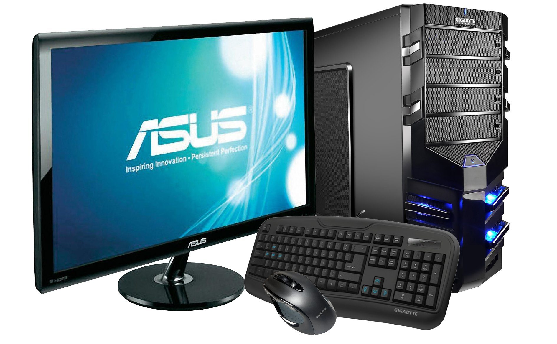 Hyrican Gaming PC Set AMD FX-8350, 16GB, Windows 10 + Monitor »Alpha Gaming SET01076«