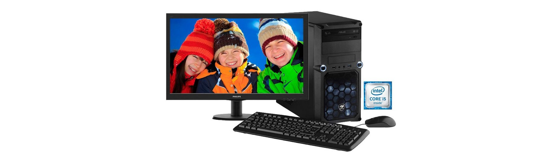 Hyrican Gaming PC Set Intel® i7-6700, GeForce® GTX 950 + Monitor »Cyber Gamer SET01088«