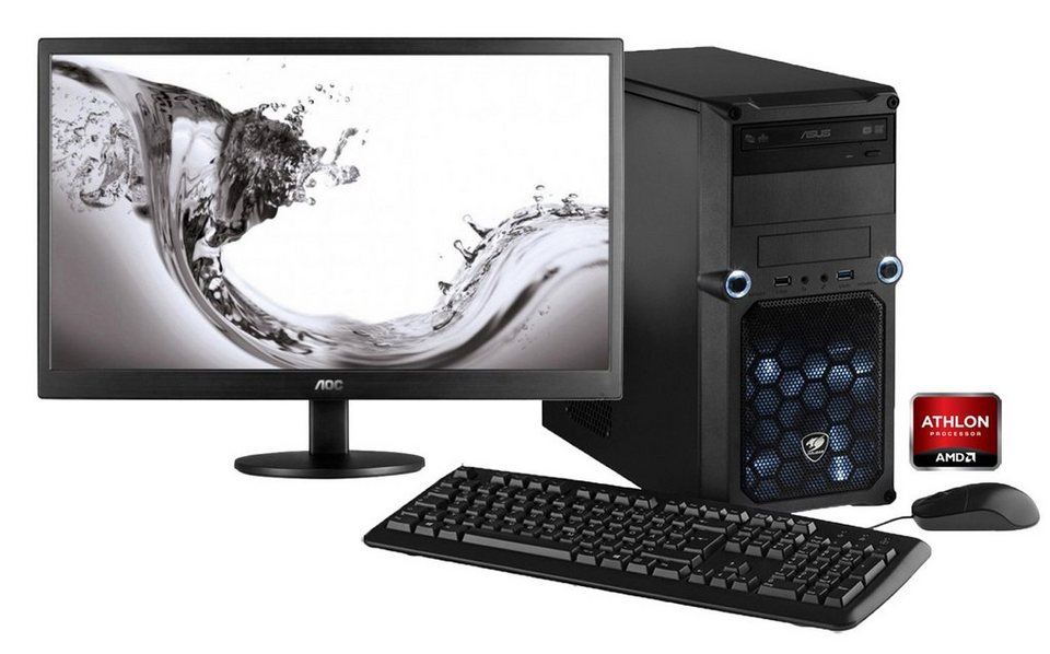 hyrican gaming pc set amd athlon x4 880k windows 10. Black Bedroom Furniture Sets. Home Design Ideas