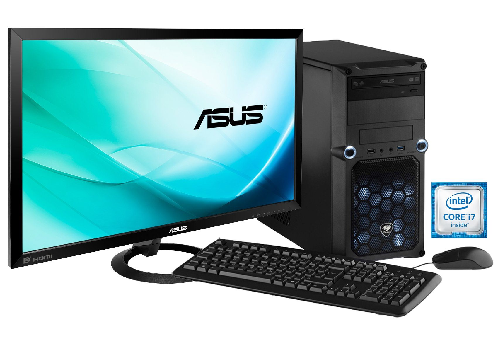 Hyrican Gaming PC Set Intel® i7-6700, 16GB, Windows 10 + Monitor »Cyber Gamer SET01074 «