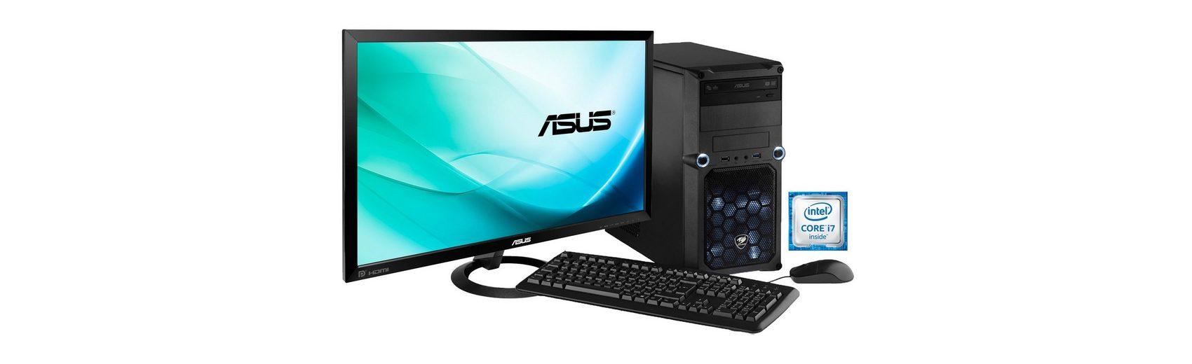 Hyrican Gaming PC Set Intel® i7-6700, 16GB, Windows 10 + Monitor »Cyber Gamer SET01074 «