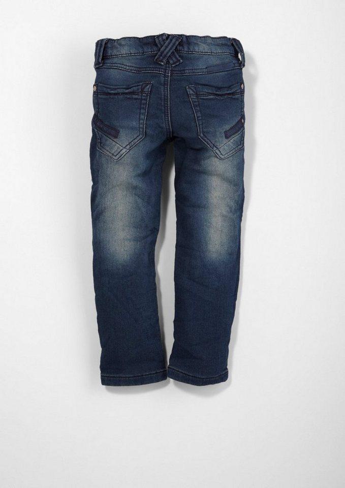 s.Oliver RED LABEL Junior Brad: Bequeme Sweat-Jeans für Jungen in blue denim stretch