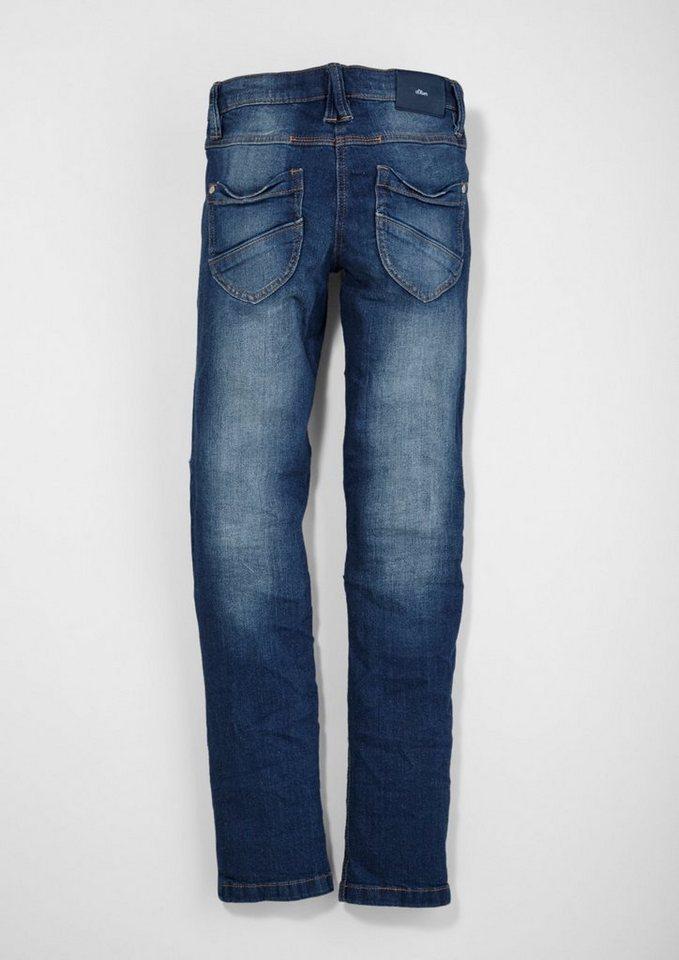 s.Oliver RED LABEL Junior Suri: Jeans mit Destroyes für Mädchen in blue denim stretch