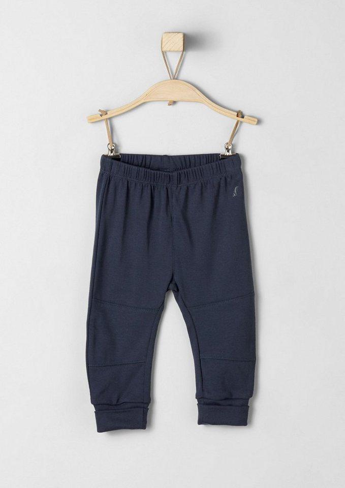 s.Oliver RED LABEL Junior Jogging Pants aus Ripp für Babys in dark blue