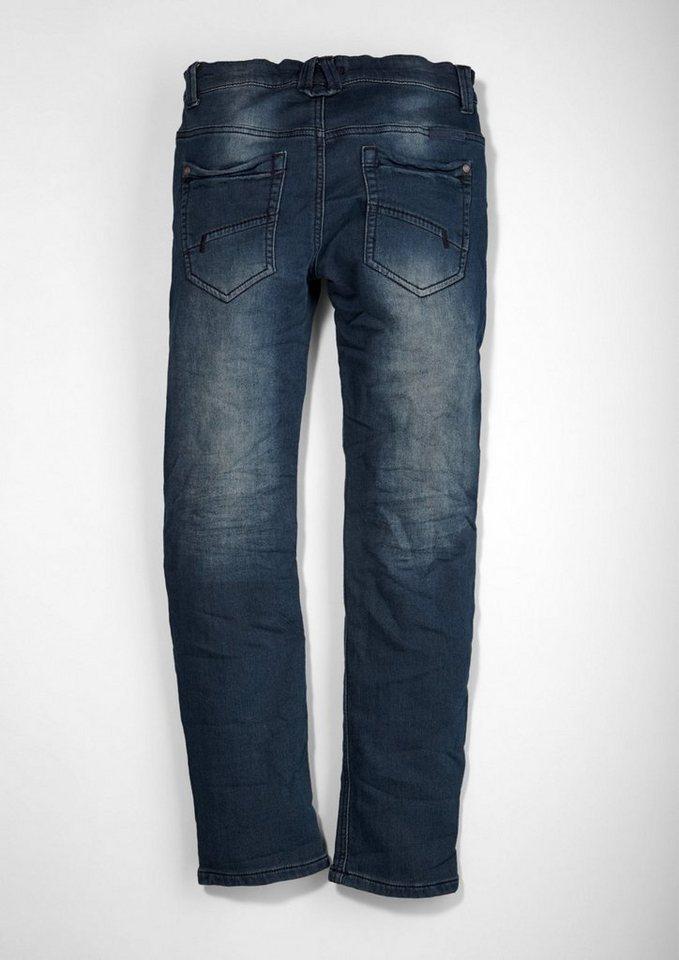 s.Oliver RED LABEL Junior Seattle: Stretchige Sweat-Jeans für Jungen in blue denim stretch