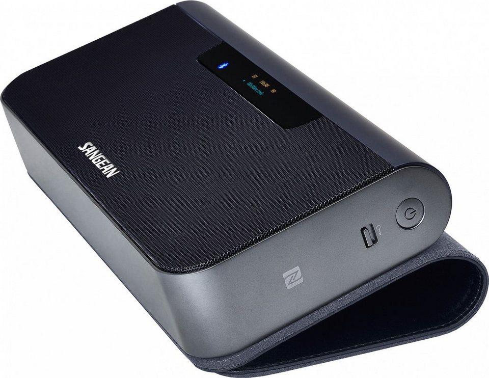 Sangean Digitalradio in eleganter Lederhülle (DAB+/UKW, Bluetooth, »DPR-202BT (TunPad)« in Blau