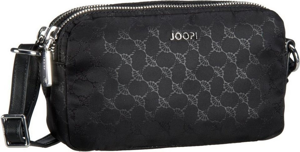Joop Leandra Nylon Cornflower Shoulder Bag Small in Black
