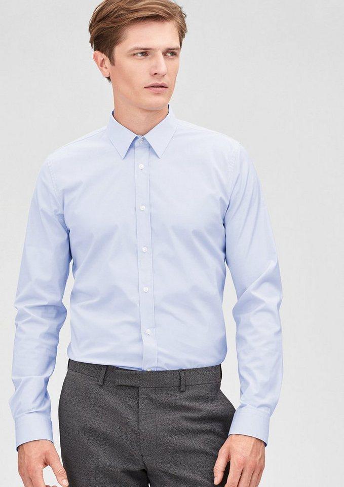 s.Oliver BLACK LABEL Slim: Langärmliges Stretch-Hemd in pale blue