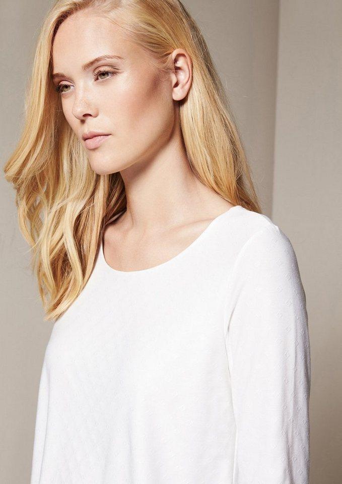 COMMA Elegantes 3/4-Arm Jerseyshirt im Lagenlook in offwhite