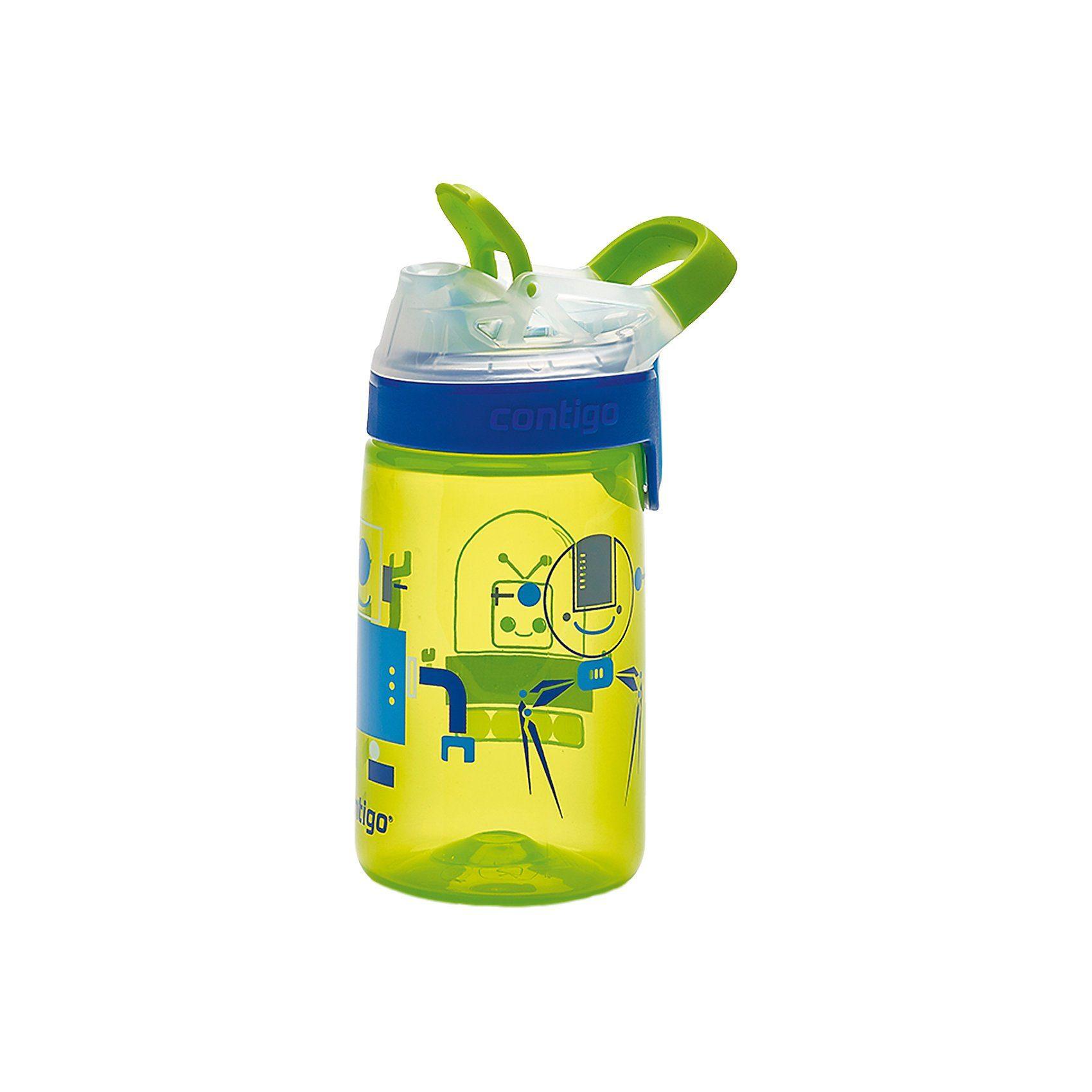 contigo Trinkflasche Gizmo Sip Chartreuse Robots, 420 ml