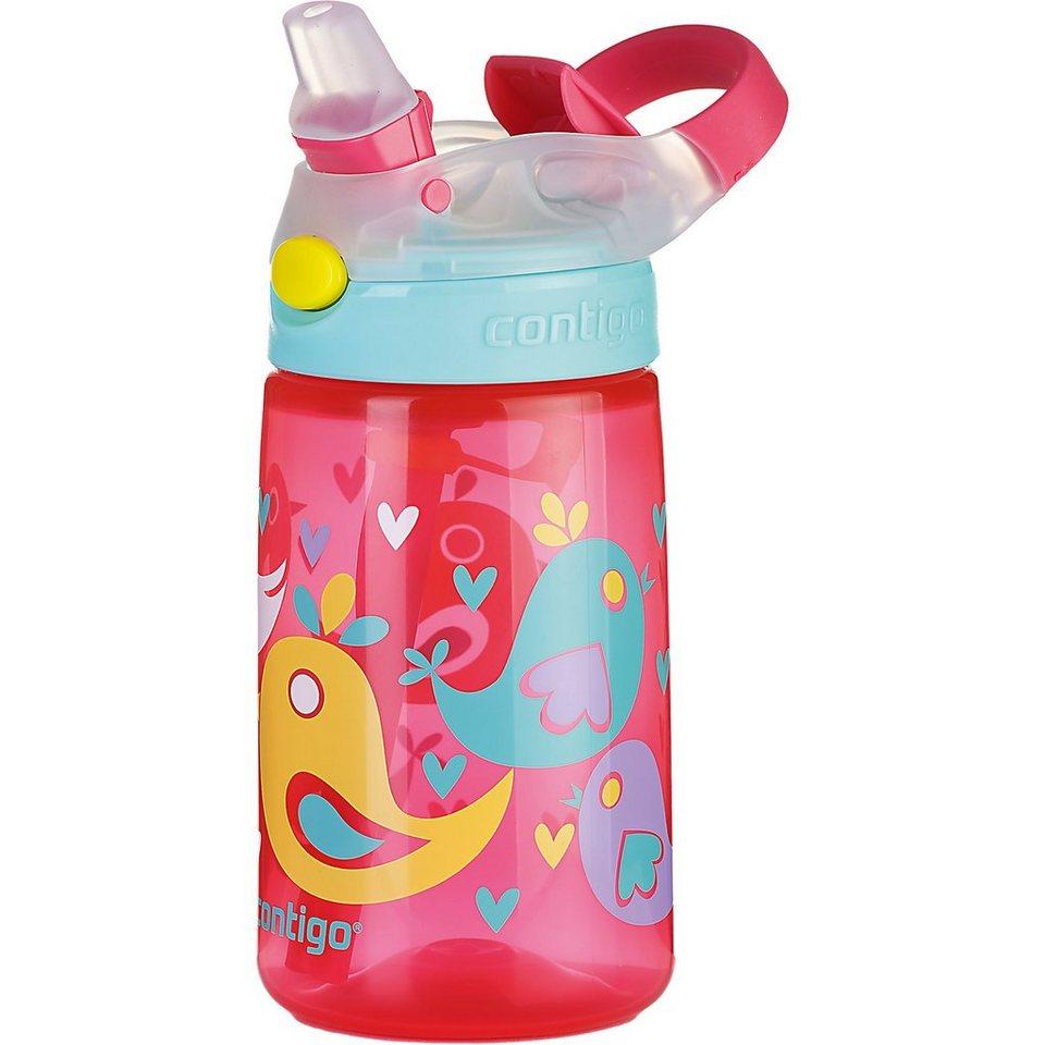 contigo Trinkflasche Gizmo Flip Cherry blossom love birds, 420 ml in rot