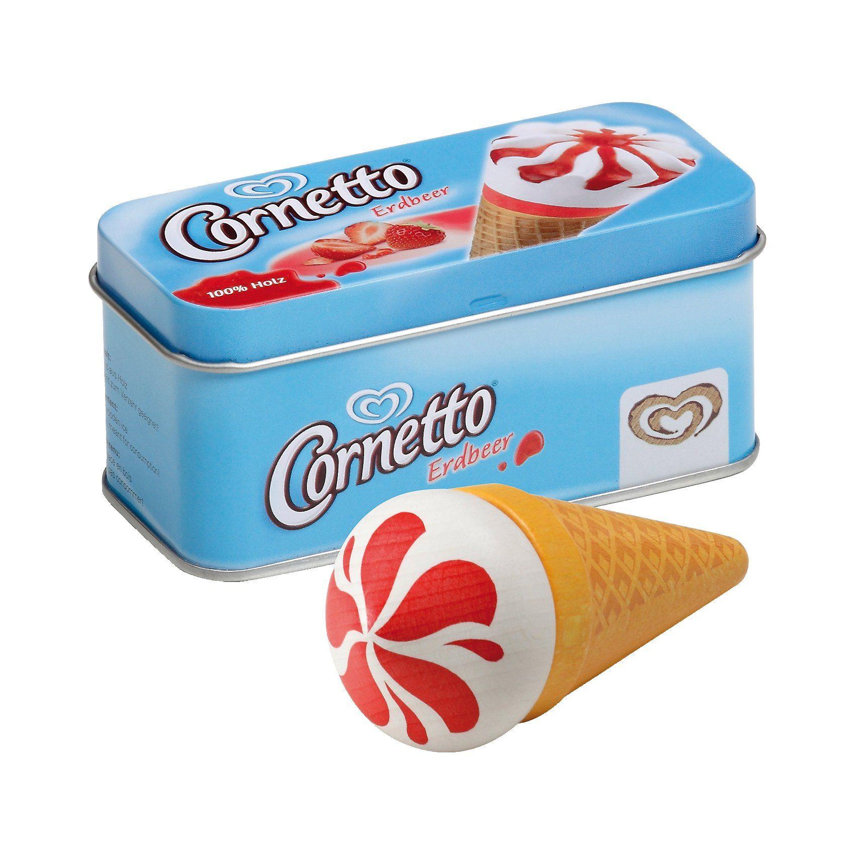 ERZI Spiellebensmittel Eis Cornetto Erdbeer in der Dose