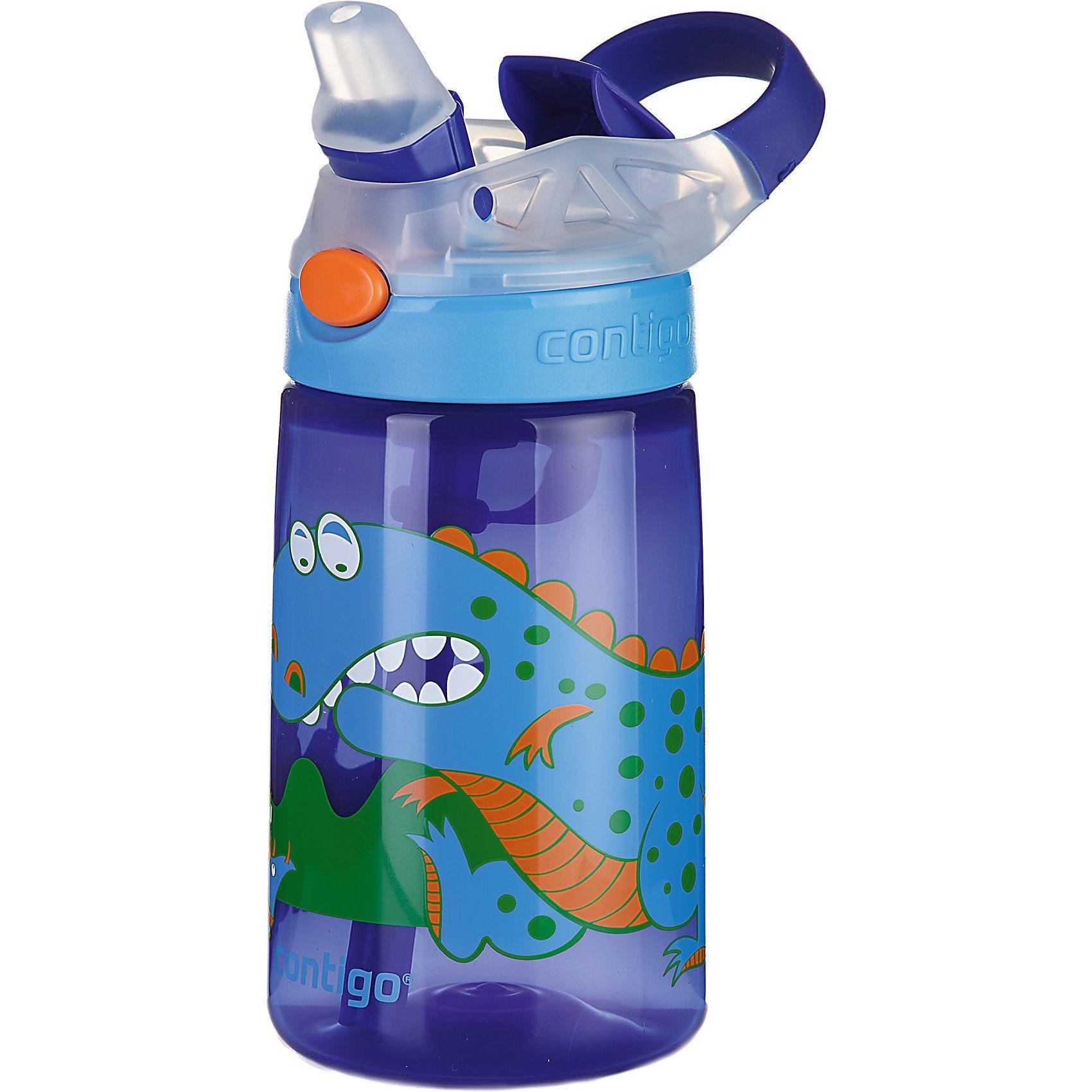 contigo Trinkflasche Gizmo Flip Sapphire Dinosaur, 420 ml