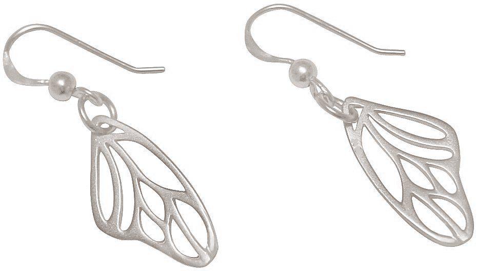 Gemshine Paar Ohrhaken, »Schmetterlingsflügel, PA943«