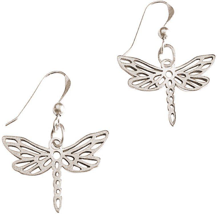 Gemshine Paar Ohrhaken, »Libelle PliP« in Silber 925