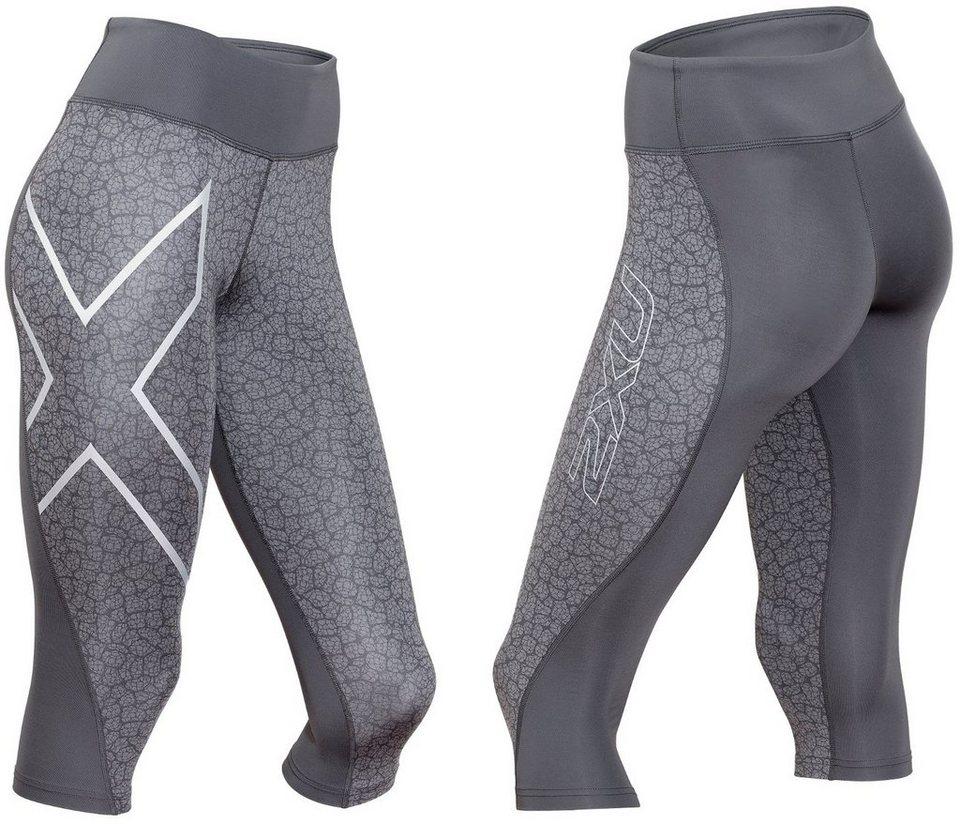2xU Jogginghose »Mid-Rise 3/4 Compression Tights Women« in grau